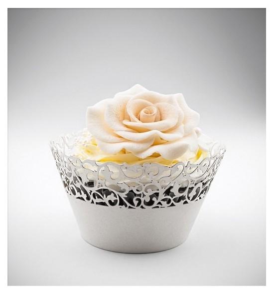 Svatební košíčky na cupcakes - CC1102