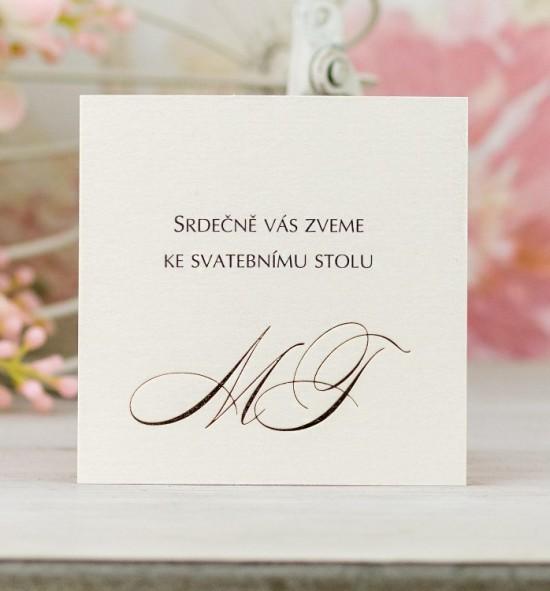 Pozvánka ke svatebnímu stolu P2078