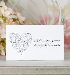 Pozvánka ke svatebnímu stolu P2094A