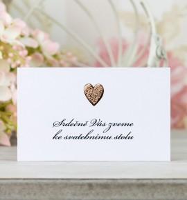 Pozvánka ke svatebnímu stolu P2097C