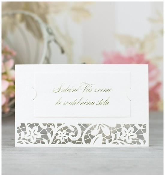 Pozvánka ke svatebnímu stolu P2058