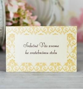 Pozvánka ke svatebnímu stolu P2093
