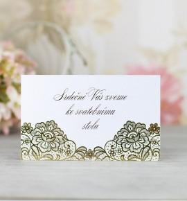 Pozvánka ke svatebnímu stolu P2103
