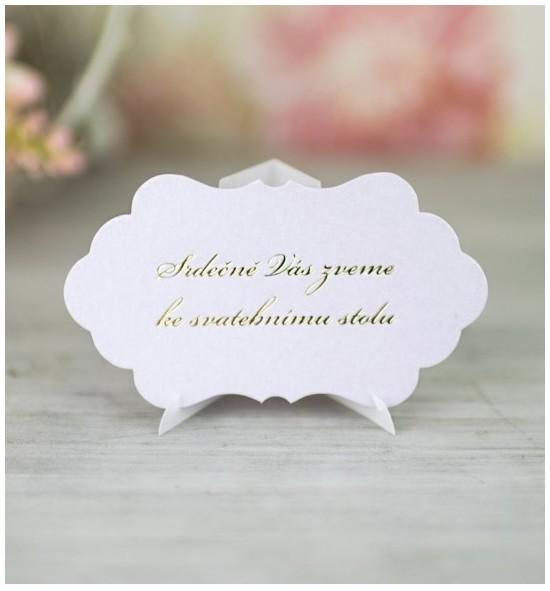 Pozvánka ke svatebnímu stolu P2104