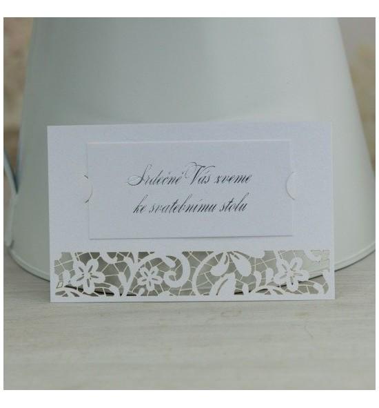 Pozvánka ke svatebnímu stolu P2099