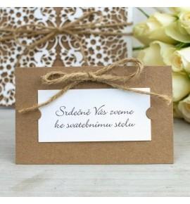 Pozvánka ke svatebnímu stolu P2109A