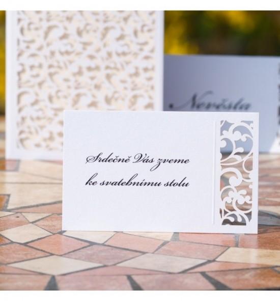 Pozvánka ke svatebnímu stolu P2105A