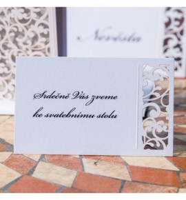Pozvánka ke svatebnímu stolu P2105B
