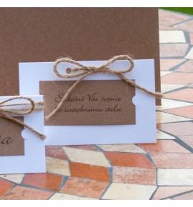 Pozvánka ke svatebnímu stolu P2109B