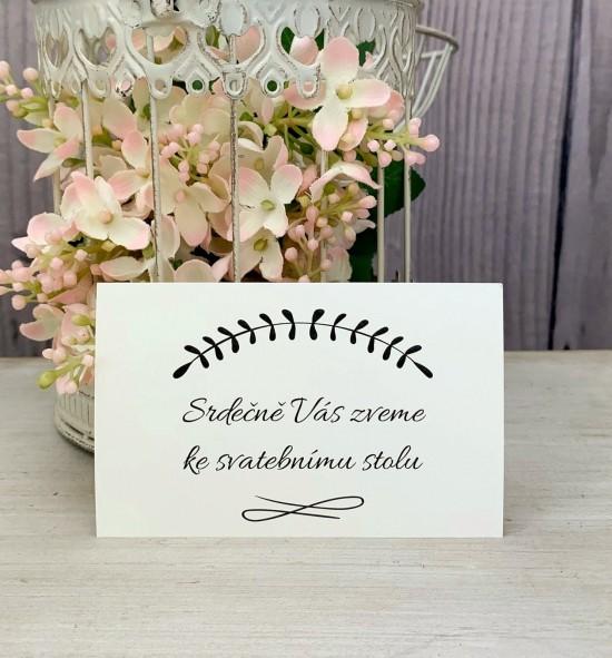 Pozvánka ke svatebnímu stolu P2148