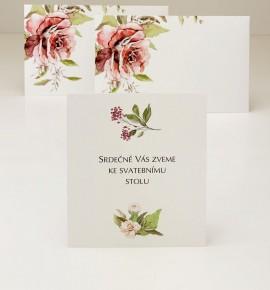 Pozvánka ke svatebnímu stolu P2135