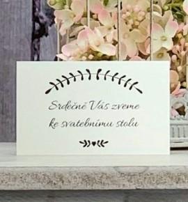 Pozvánka ke svatebnímu stolu P2146