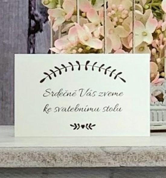 Pozvánka ke svatebnímu stolu P2147