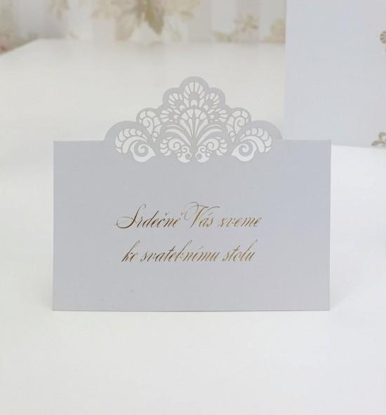 Pozvánka ke svatebnímu stolu P2117