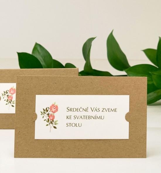 Pozvánka ke svatebnímu stolu P2130