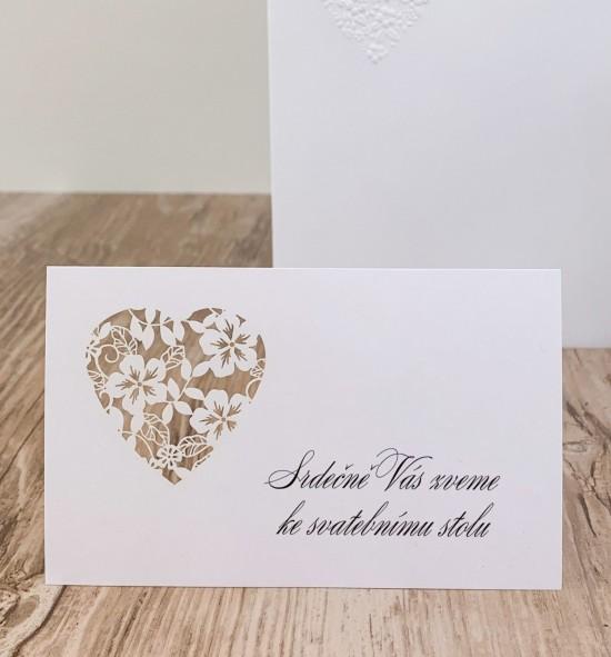 Pozvánka ke svatebnímu stolu P2143