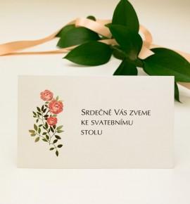 Pozvánka ke svatebnímu stolu P2132