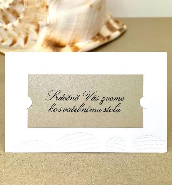 Pozvánka ke svatebnímu stolu P2035
