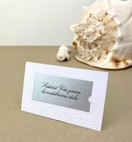 Pozvánka ke svatebnímu stolu P2025