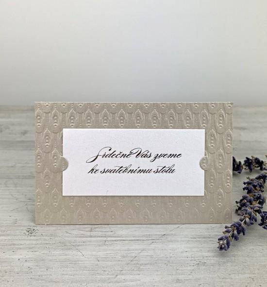 Pozvánka ke svatebnímu stolu P2026B