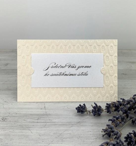 Pozvánka ke svatebnímu stolu P2026C