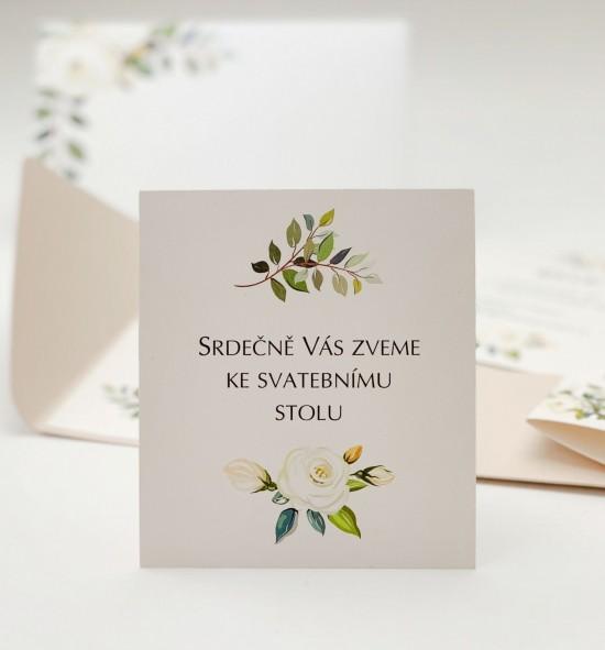 Pozvánka ke svatebnímu stolu P2138
