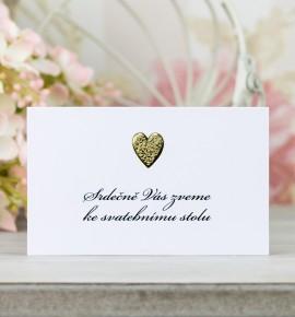 Pozvánka ke svatebnímu stolu P4003
