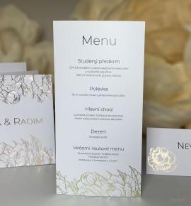 Svatební menu M4003