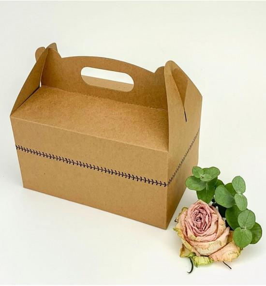 Svatební krabička na výslužku střední z recyklovaného papíru - K56-2149-10