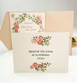 Pozvánka ke svatebnímu stolu P2133