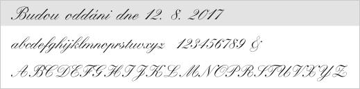 vzor písma - 1