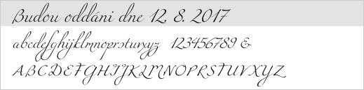 vzor písma - 2