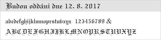 vzor písma - 22