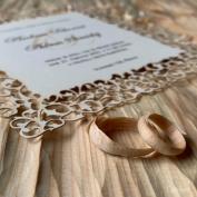 Svatební oznámení G2088 #svatebni #tiskoviny #svatebnioznameni #lasercut #prirodni #krajka #jakozedreva ☺️ #svatba #beremese #svatbabude #vintage #nevesta #zenich #milujemepapir  S láskou k papíru 🤎#epsilonpraha
