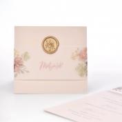 Jmenovka #svatebnihostina  Když pečeť, tak @artisairepro 🤎 #waxseals #rosegold #pecet  #svatebni #tiskoviny #namiru #monogram #kvetinovy #svadba #svatebnioznameni #milujemepapir #epsilonpraha